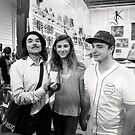 Three Visitors to Fremantle Markets by Andrew  Makowiecki