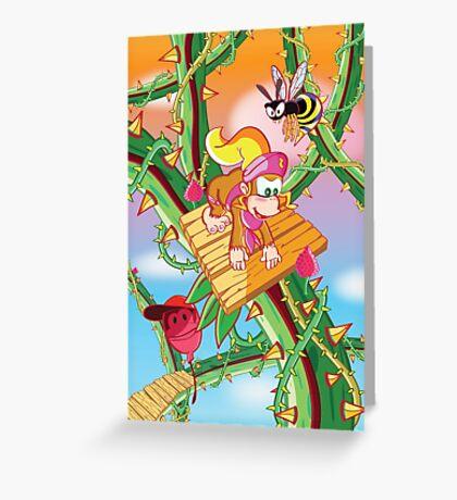 Donkey Kong Country 2 - Bramble Blast Greeting Card
