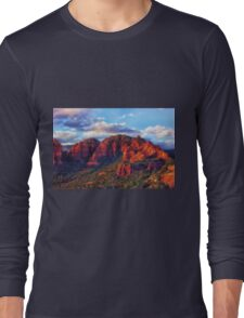 Cliffs of Sedona at Sunset Long Sleeve T-Shirt