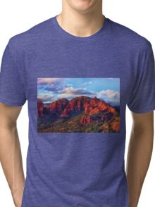 Cliffs of Sedona at Sunset Tri-blend T-Shirt