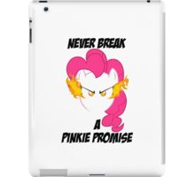 Never Break a Pinkie Promise (BLACK TEXT) iPad Case/Skin
