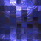 Blue Lights Mosaic by Sue Cotton