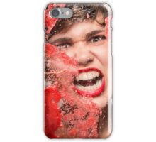 Red Rage iPhone Case/Skin
