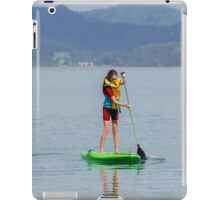 Learning to paddle board iPad Case/Skin