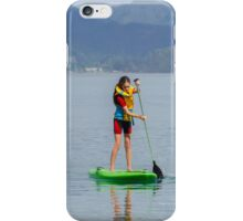 Learning to paddle board iPhone Case/Skin