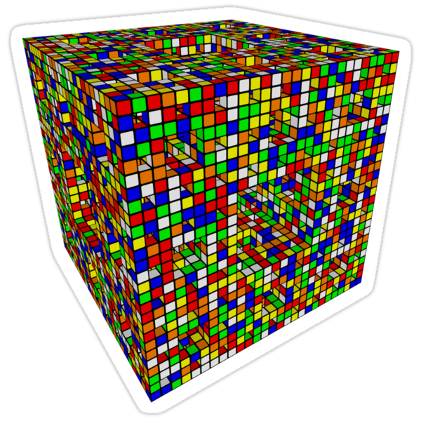 Rubik Menger Sponge, three iterations. Resistance is futile. by P1rD