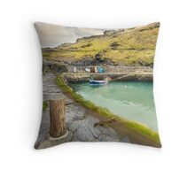 Boscastle Harbour Throw Pillow
