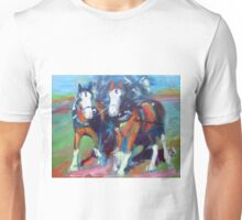 The leaders, two draft horses Unisex T-Shirt