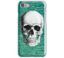 Skull with Green Background iPhone Case/Skin