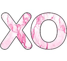 Letter Series - x & o (kisses and hugs pink) by jacqs