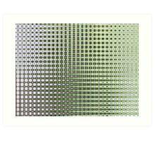 Green 'n Grey Lattice Art Print