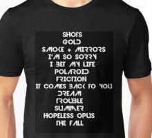 Smoke and Mirrors tracks Unisex T-Shirt