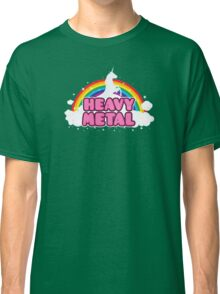 HEAVY METAL! (Funny Unicorn / Rainbow Mosh Parody Design) Classic T-Shirt
