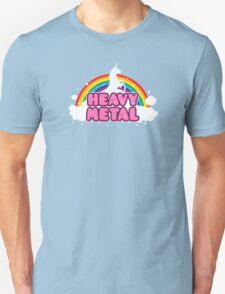 HEAVY METAL! (Funny Unicorn / Rainbow Mosh Parody Design) T-Shirt