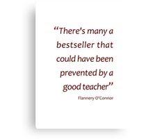 Preventing bestsellers... (Amazing Sayings) Canvas Print