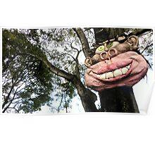 Smiling tree Poster