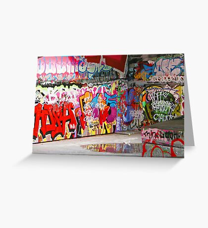 The writing's on the wall Greeting Card