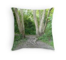 Woodland Gate Throw Pillow