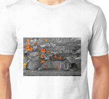 Nasturtiums In The Breeze - Selective Color Unisex T-Shirt