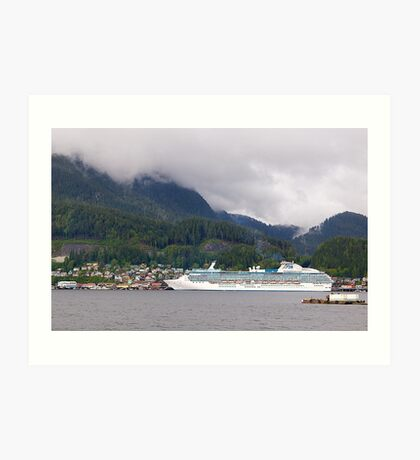 Coral Princess, Cruise Liner, Ketchikan, Alaska 2012. Art Print