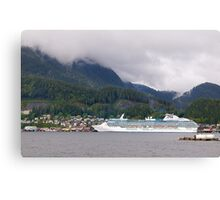 Coral Princess, Cruise Liner, Ketchikan, Alaska 2012. Canvas Print