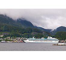 Coral Princess, Cruise Liner, Ketchikan, Alaska 2012. Photographic Print