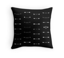 BMW historic cars headlights and kidney grill pattern Throw Pillow