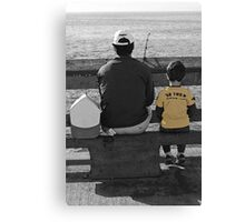 A Day Fishing With Dad Canvas Print