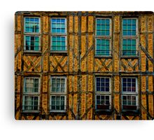 Facade in Troyes Canvas Print