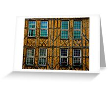 Facade in Troyes Greeting Card