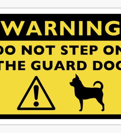 Humorous Chihuahua Guard Dog Warning Sticker