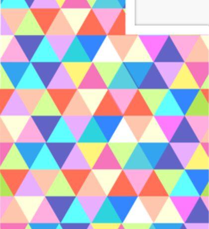 Utah Colorful Triangles Geometric Hipster Utah State Sticker