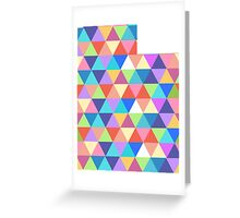 Utah Colorful Triangles Geometric Hipster Utah State Greeting Card