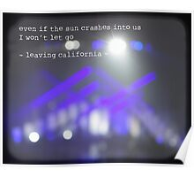 MAROON MUSIC - Leaving California Poster