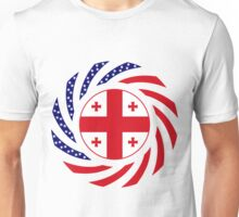 Georgian American Multinational Patriot Flag Series Unisex T-Shirt