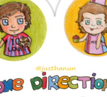 One Direction In Cartoon Sticker