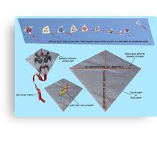 Kite design Canvas Print