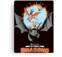 How to Train Your Dragons Canvas Print