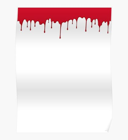 Paint Drips - Red Poster