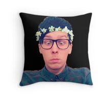 amazingphil - flower crown Throw Pillow