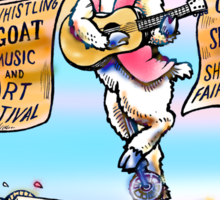 Whistling Goat Festival is coming to town. Sticker