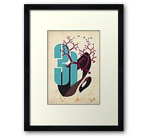 Number Three One Framed Print
