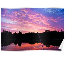 Sunset while Fishing at Hymany Dam Poster