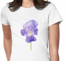 Purple Iris T-shirt Womens Fitted T-Shirt