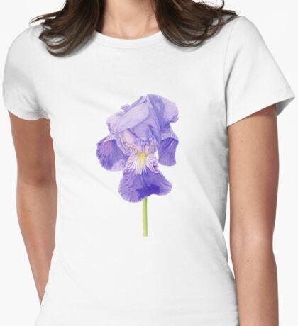 Purple Iris T-shirt Womens Fitted T-Shirt