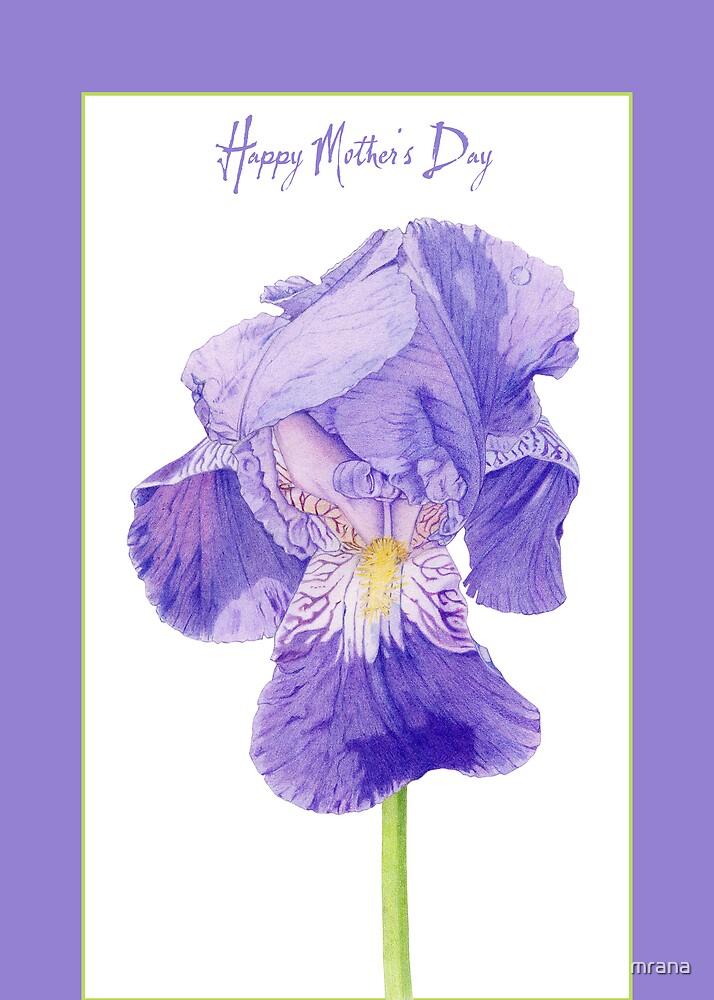 Purple Iris Mother's Day by Mariana Musa