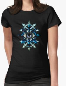 EVIL EYE WITH CHAOS STAR Womens Fitted T-Shirt