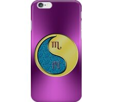 Scorpio & Rooster Yin Metal iPhone Case/Skin