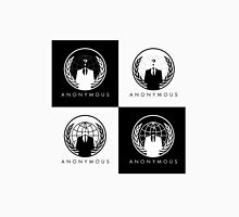 Anonymous Crest Black and White Multiple Unisex T-Shirt