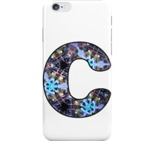 Letter Series - c (kaleidoscope) iPhone Case/Skin